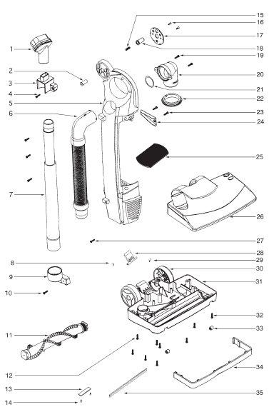 Sanitaire Model Sc785 Vacuum Parts Vacland Vacland