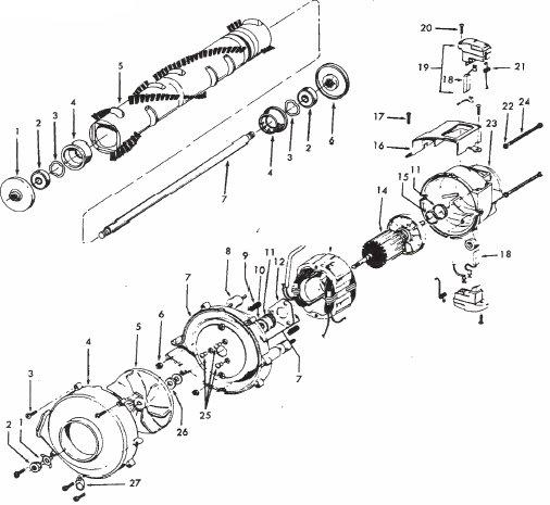Hoover Model C1800 U7069 Vacuum Parts