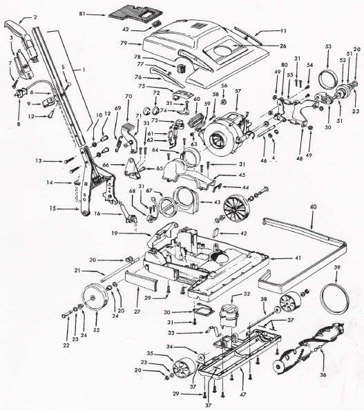 Hoover Model C1810 U7071 Vacuum Parts