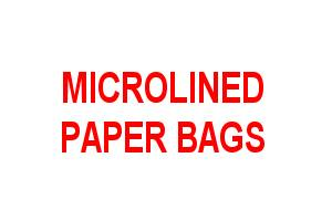 Microlined Paper Bags