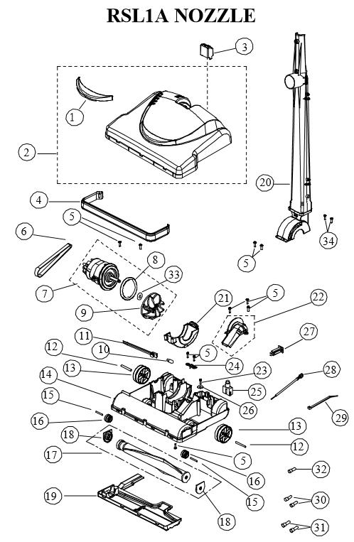 Riccar RSL1AC Vacuum Cleaner Parts - Vacland Vacland