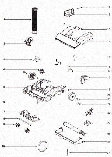 Oreck Vacuum Parts Diagram