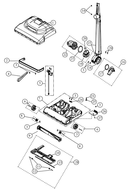 riccar vacuum wiring diagram hoover vacuum parts diagram