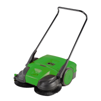 "BG-477 31"" 3 Brush Push Sweeper $899"